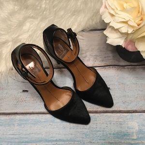 DV Dolce Vita pointy toe pump ankle strap black